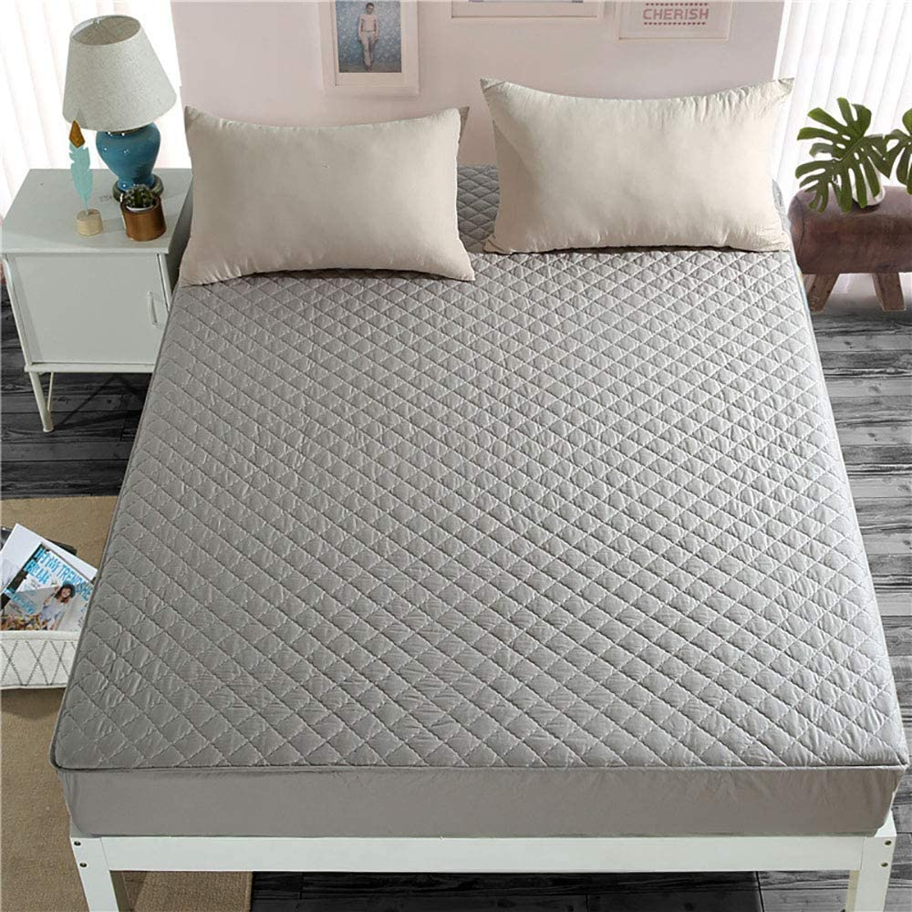 Home Accessories King Size Mattress Protector Waterproof Mattress Cover Small Double Bed Thickened Quilted Multiple Anti-slip Moisture Absorbing Warm and Comfortable 360 Degree All-inclusive Design