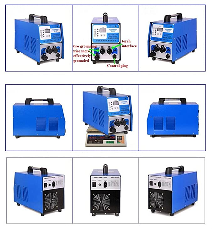 Huanyu Stud Welder RSR-2500 Capacitor Discharge Stud Bolt Plate Welder Welding Machine for Welding Bolt Plate Insulation Nail Screw 220V 50/60HZ - - Amazon. ...
