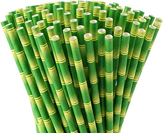 LARRY SHELL 200 PCS Kraft Papel Straws Biodegradable Tinte Libre a ...