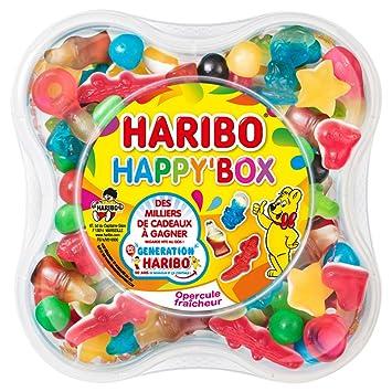 Amazoncom Haribo Happy Box Candy Tub From France 600 Grams
