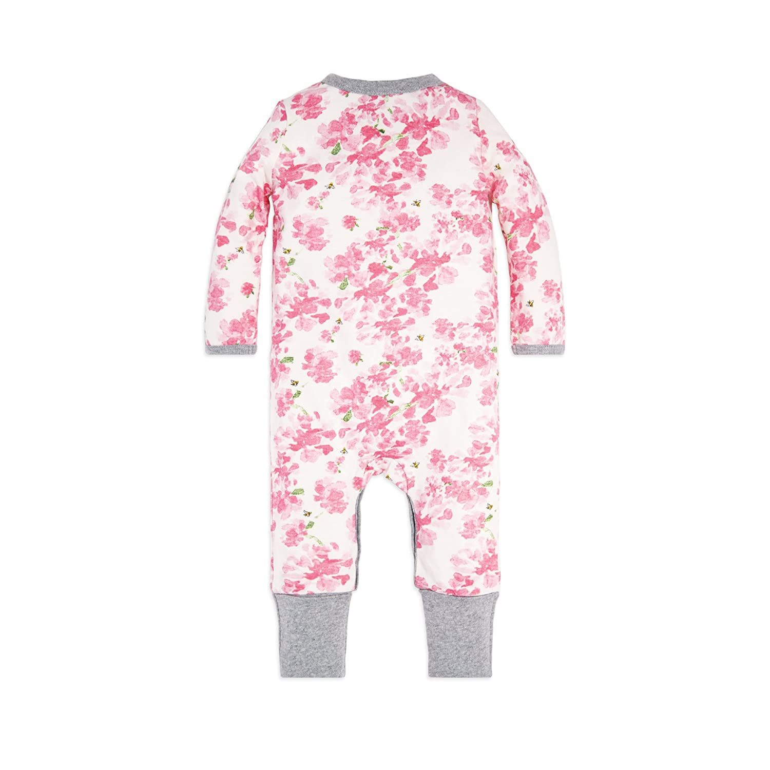Burts Bees Baby 100/% Organic Cotton One-Piece Coverall Baby Girls Romper Jumpsuit