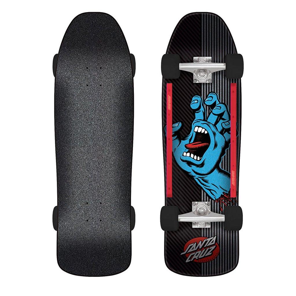 Santa Cruz Skate Screaming Hand Metal Stripe 9.35in x 31.7in 80s Cruzer Complete