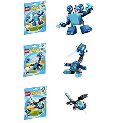 LEGO, Mixels Series 2 Bundle Set of Frosticons, Slumbo (41509), Lunk (41510), and Flurr (41511): Toys & Games