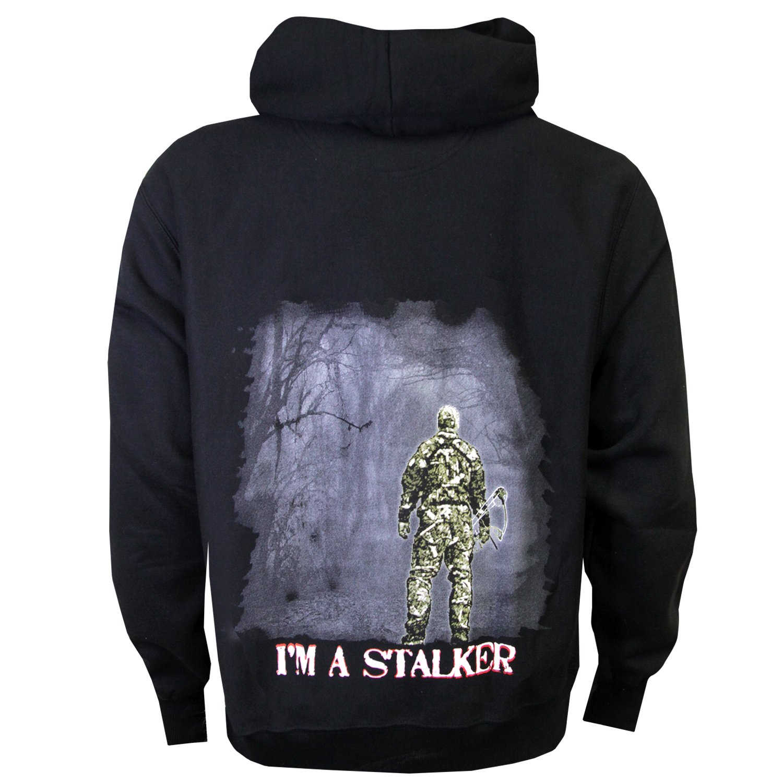 2b3595b2f Amazon.com : String Stalker I'm a Stalker Bow Hunter Hoodie : Sports &  Outdoors