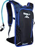 """Hydration Pack Bike Backpack with 50 Oz / 1.5L BPA-Free Bladder for Running, Ski, Hiking, Bike. Great Lightweight Day Pack Bag Fits Men Women Kids with Chest Size 27"""" to 50"""""""