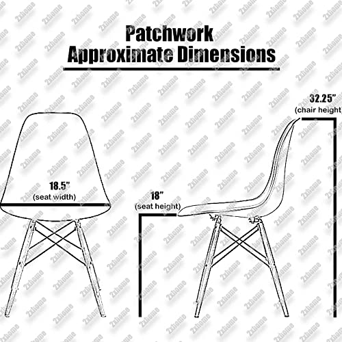 2xHome RayBLKLeg Sam. dining Chair