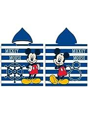 Mouse Mickey Disney Poncho con Capucha Microfibra Toalla Playa Piscina Baño Microfibra Infantil 55x110cm