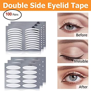Double Sided Eyelid Tapes - HailiCare Invisible Double Eyelid Fiber Sticker  Instant Eyelid Lift 50 Pairs Slim +