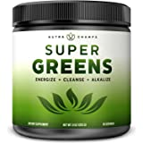 Super Greens Powder Premium Superfood - 20+ Organic Green Veggie Whole Foods - Wheat Grass, Spirulina, Chlorella & More - Ant