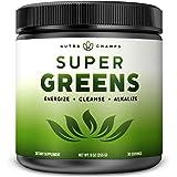 Super Greens Powder Premium Superfood - 20+ Organic Green Veggie Whole Foods - Wheat Grass, Spirulina, Chlorella & More…