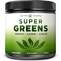 Super Greens Powder Premium Superfood - 20+ Organic Green Veggie Whole Foods - Wheat...