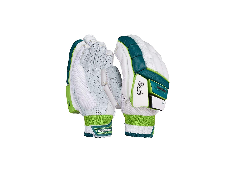 Kookaburra Cricket Full Finger Bat Gloves Green Cotton Batting Inners