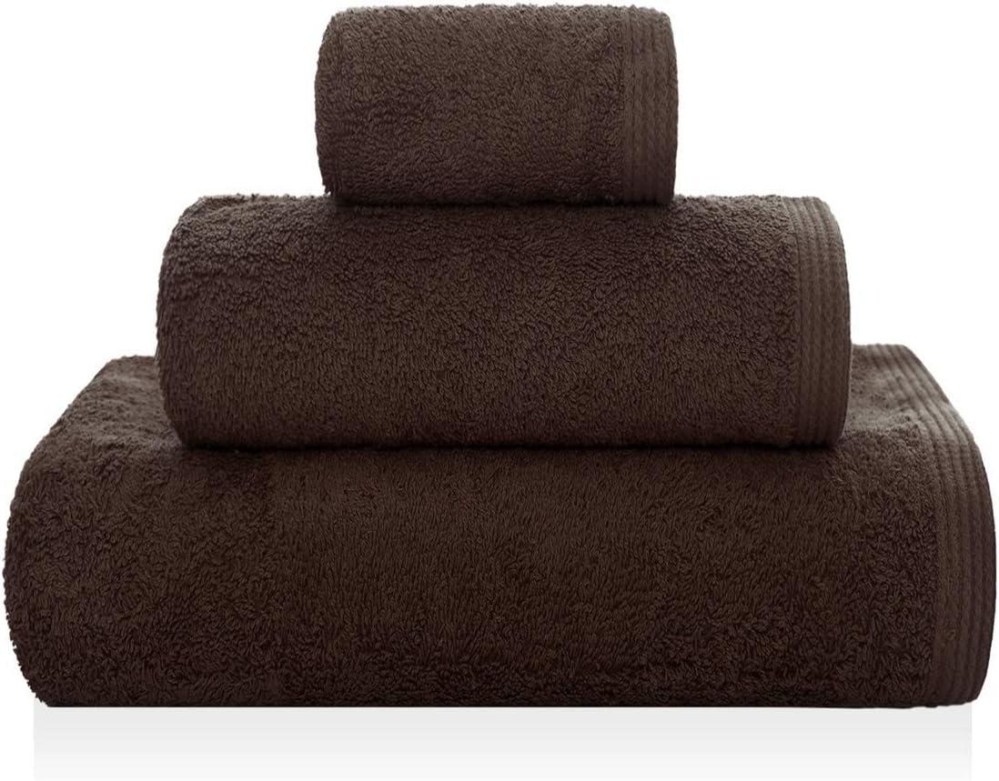 50 x 100 cm Sorema New Plus de algod/ón Peinado Toalla para Lavabo Color marr/ón