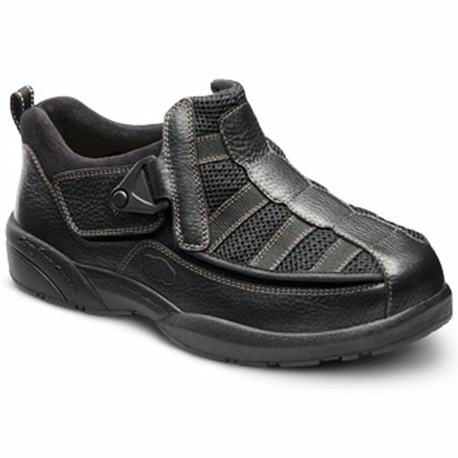 Dr. Comfort Edward-X Mens Casual Shoe -6.0 X-Wide (XW/6E) Black Velcro US Men|Black