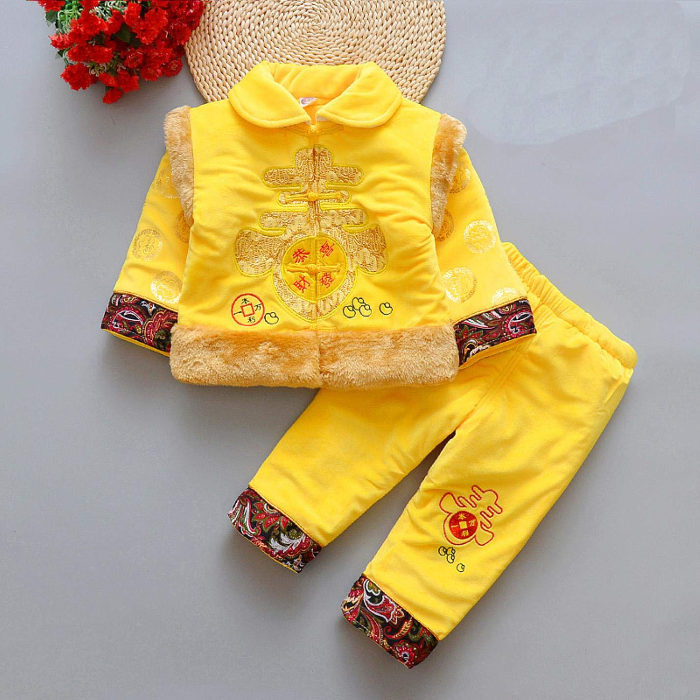 bcd201cb2 Amazon.com: Boy Girl Chinese Year Traditional Set Thickened Spring ...