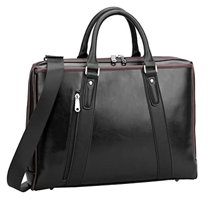 a9a0451b9fe7 Ronts Black Pu Leather Briefcase for Women Business Laptop Messenger Bag  Shoulder Handbag Office Work Tote Attache Case for 13''-15.6 Inch Notebook,  ...