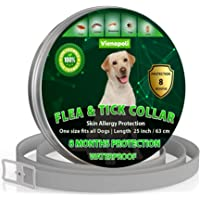 Natural Flea Treatment for Dogs – 8 Months Flea and Tick Collar Dog Protection – Adjustable Dog Flea Collar for Small…