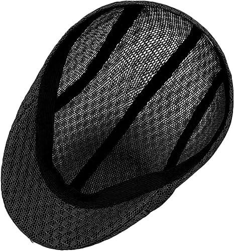 InnovativeVersionSin 2019 Winter Men Flat Cap Black Grey Newsboy Bakerboy Hats Cotton Beret Hat British Retro Men Woolen Flat Cap,Black