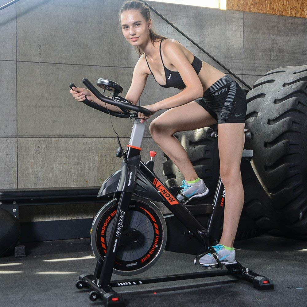 Pooboo Indoor Cycling Bike - Exercise bikes
