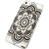 Malloom® PouriPhone 5C Henna Full Mandala Floral Dream Catcher Cuir Coque Strass Case Etui Coque étui de portefeuille protection Coque Case Cas Cuir