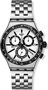 ساعة يد سواتش دستنيشن روتردام للرجال - نظام انالوج مع سوار من الستانلس ستيل - YVS416G