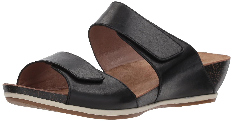 Dansko Women's Vienna Slide Sandal B072WD42TZ 37 M EU (6.5-7 US)|Black Full Grain