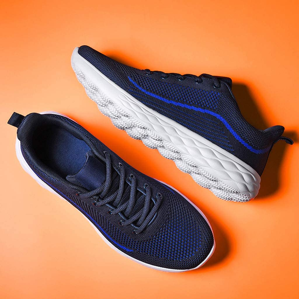 Makalonson Men Running Shoes Fashion Casual Slip on Hiking Athletic Walking Sport Comfortable Fashion Breathable Lightweight Sneakers