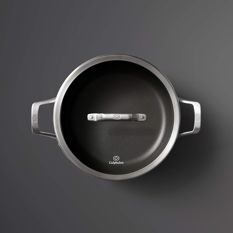Calphalon 2029654 Premier Hard-Anodized Nonstick 8.5-Quart Dutch Oven with Cover Black