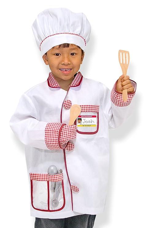 amazon com melissa doug 4838 chef role play costume set white