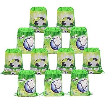 Amazon.com: Babofarms 12 bolsas de fiesta de fútbol con ...