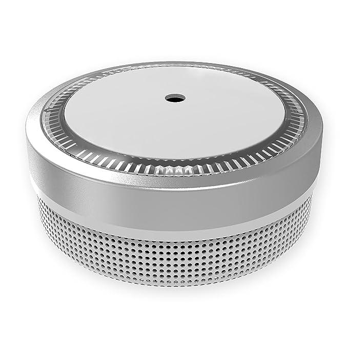 15x Nemaxx Detector de Humo M1-Mini sensibilidad fotoeléctrica - con batería de Litio Tipo DC3V - Conforme la Norma DIN EN14604 & VDS - Plateado + NX1 Pad ...