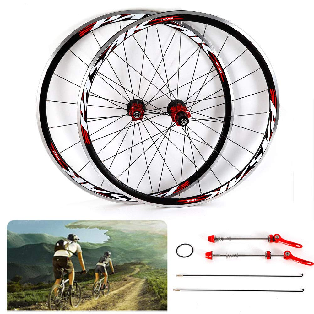 NOPTEG 700C Bicycle Bike Wheel Front Rear Wheel Wheelset Aluminium Alloy Rim 30mm USA by NOPTEG (Image #4)