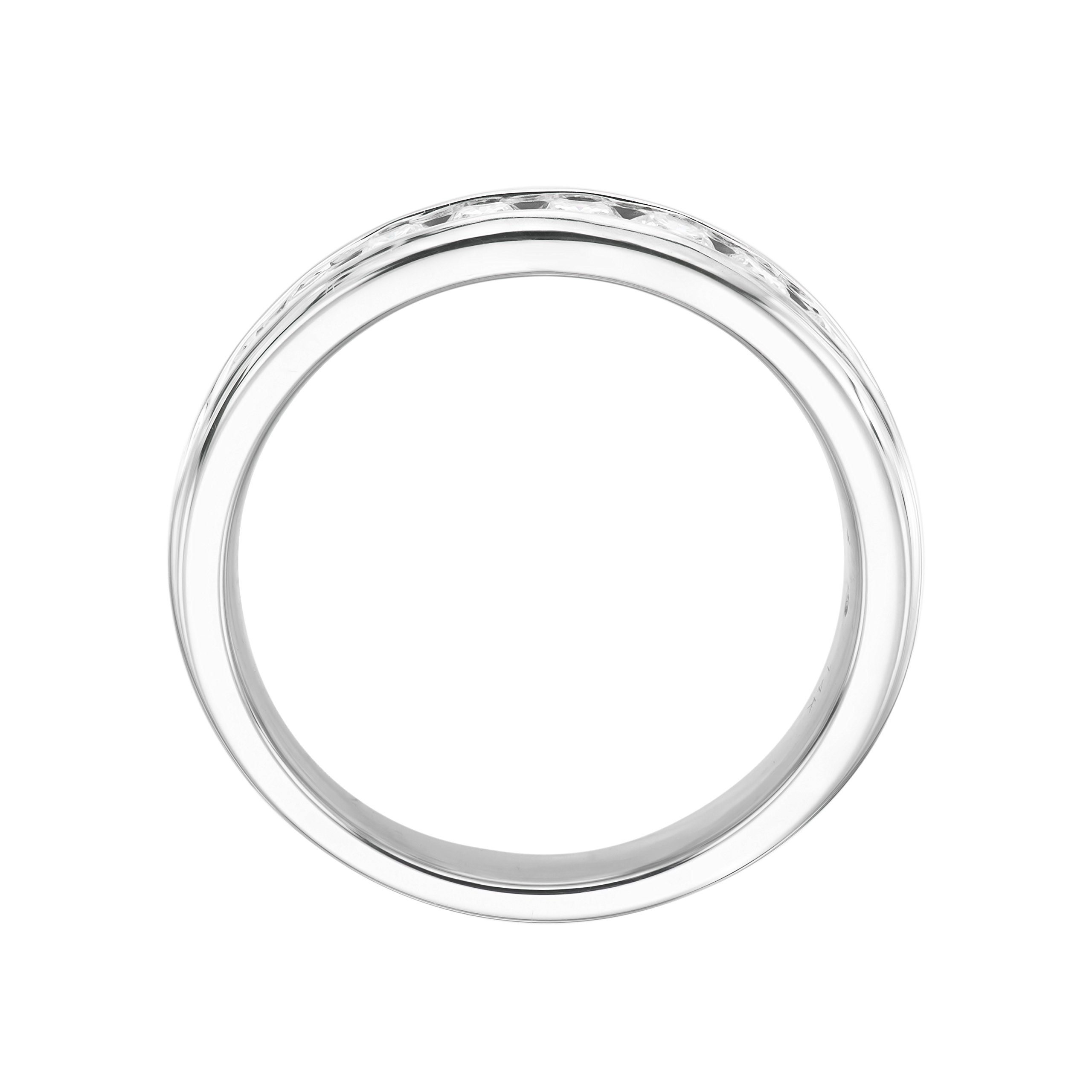 14KT White Gold 0.5ct G-I SI1/SI2 Channel Machine Set Wedding Ring by Uncle Sam's Collection (Image #2)
