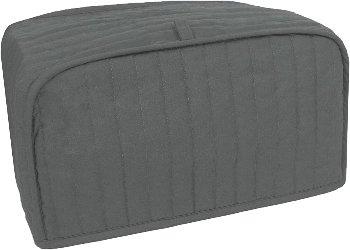 RITZ Polyester / Cotton Quilted Toaster Oven Broiler Appliance Cover, Dust and Fingerprint Protection, Machine Washable, Graphite Grey