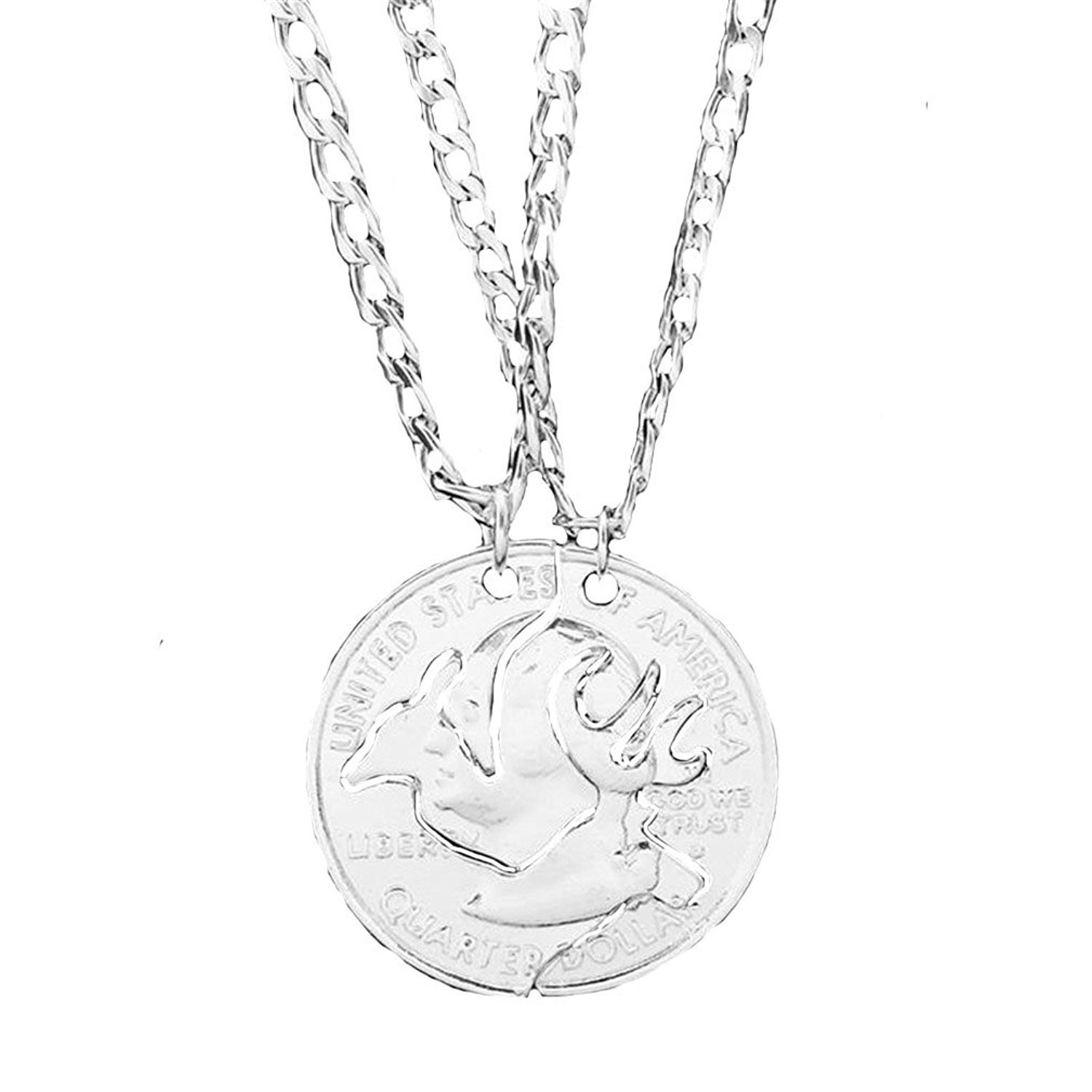 Amazon Gloria Trend Deer Browning Pendant Couple Necklace For