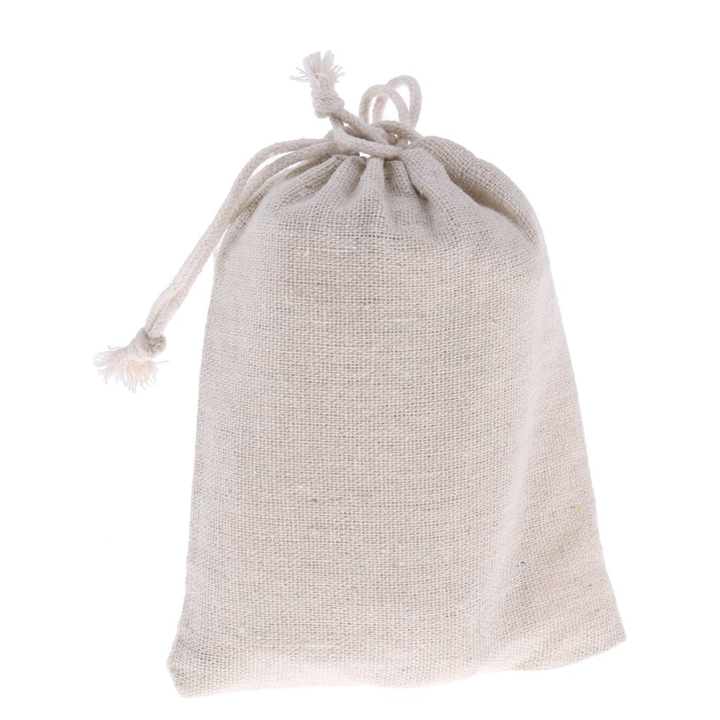 Natural Fabric Bags Grocery Storage Containers Art And Diy Craft For Party Wedding Favors Fenteer Reusable Produce Bags Cotton Drawstring Bag 12 Pieces 12 x15cm