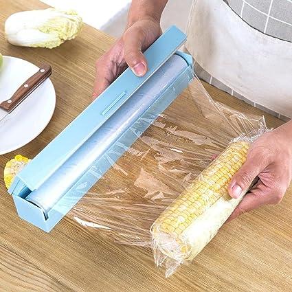 hunpta Vogue plástico cortador de papel de cocina y dispensador de film transparente de almacenamiento 3