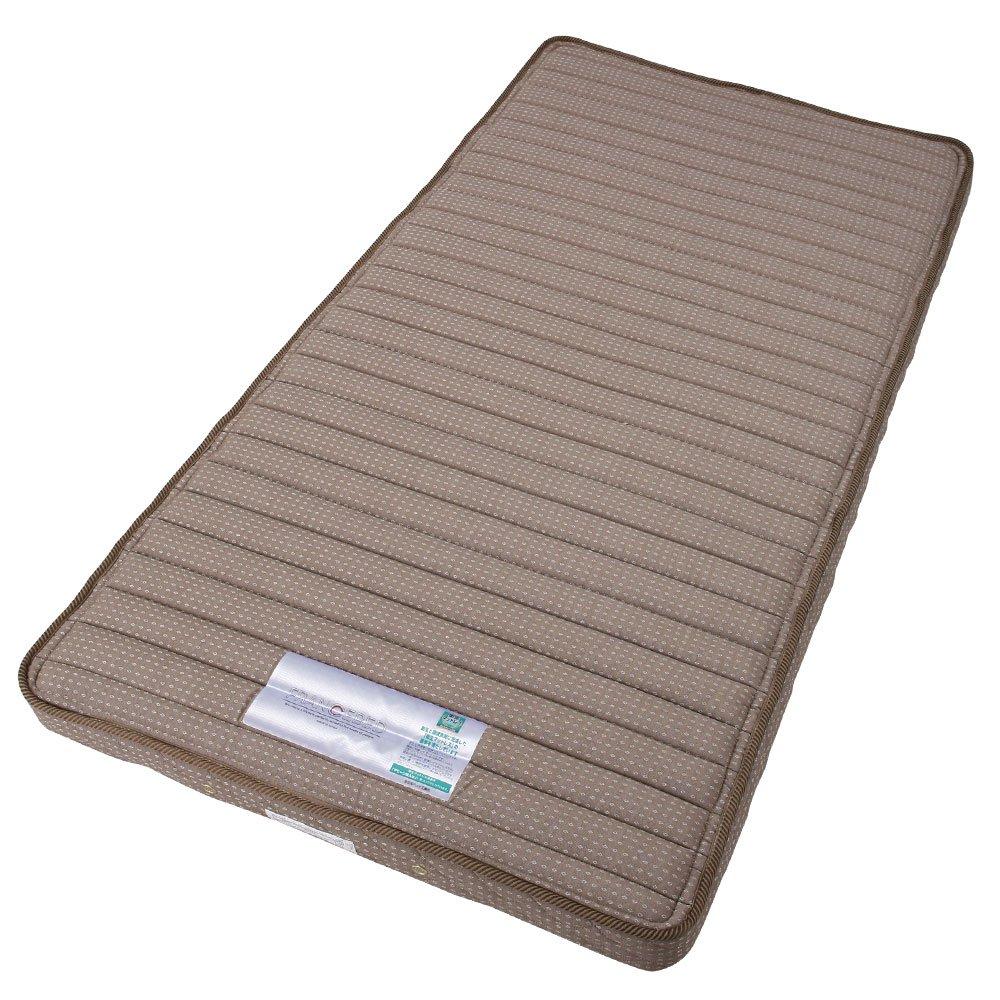 日本製 マットレス 折りたたみ スプリングマットレス 三つ折り ごろ寝マット ベッドマット 〔シングル〕 B00V7O2TMK