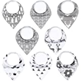 MYZIDEA Unisex 8-Pack Baby Bandana Drool Bibs for Boys and Girls. Baby Bibs Drooling and Teething