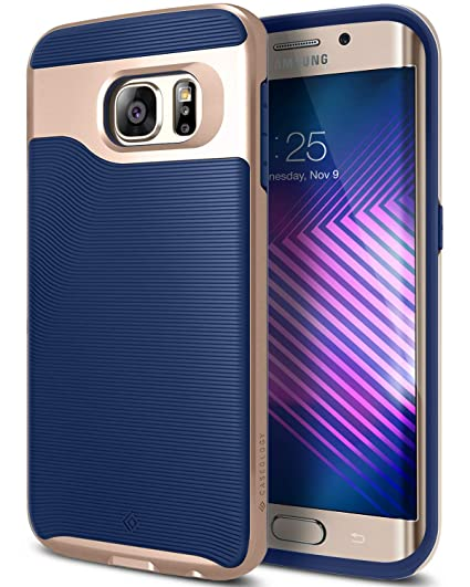 be358c1fd Amazon.com  Caseology Wavelength for Galaxy S6 Edge Case (2015) - Stylish  Grip Design - Navy Blue  Cell Phones   Accessories
