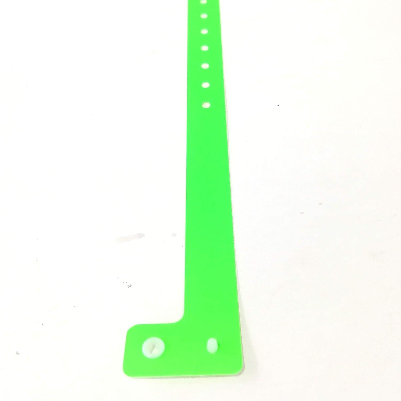 100 braccialetti in plastica per eventi personalizzabili e impermeabili giallo