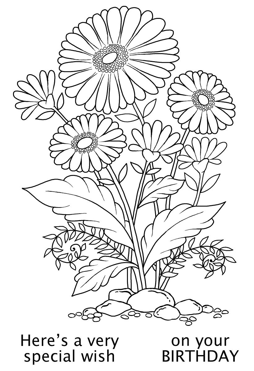 Woodware A6 Clear Cling Stamps - JGS566 Daisy Delight by WoodWare