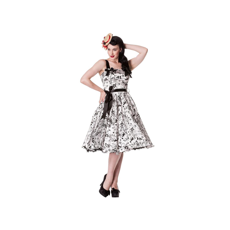 Hell Bunny Kleid TATTOO FLOCK DRESS black