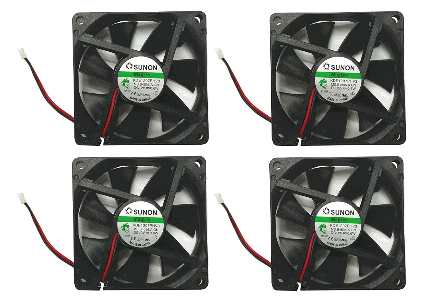 Sunon 70x70x15mm KDE1207PHV3 2Pin/2Wire 12v Low Speed Fan (4 pack)