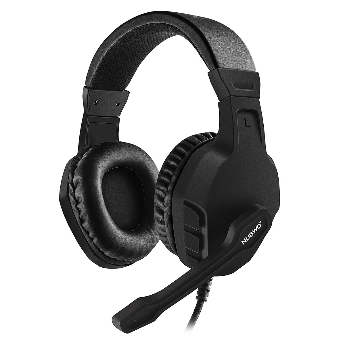 NUBWO U3 3.5mm Gaming Headset for PC, PS4, Laptop, Xbox One, Mac, iPad, Nintendo Switch Games, Computer Game Gamer Over Ear Flexible Microphone Volume Control with Mic - Black by NUBWO