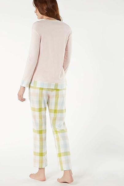Intimissimi - Pijama de Cuadros para Mujer Rosa Rosa - 368i ...