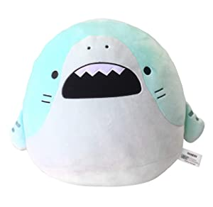 CLEVER IDIOTS INC SAMEZU Shark Mochi Squishy Plush Stuffed Animal - Cute, Collectible and Cuddly Toy Character - Authentic Japanese Kawaii Design - Tiger