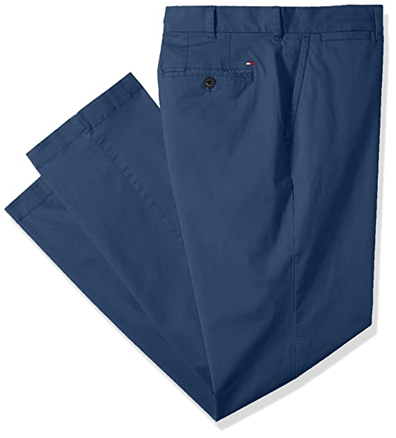 6550b14d Tommy Hilfiger Men's Big and Tall Classic Fit Stretch Chino Pants, BAYHEAD  Blue 36X36