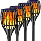 """Ollivage Solar Lights Outdoor, 43"""" Flickering Flames Torch Lights Solar Garden Lights Waterproof Landscape Lighting Dusk to Dawn Auto On/Off Security Torch Light for Yard Patio Driveway, 4 Pack"""