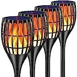 "Ollivage Solar Lights Outdoor, 43"" Flickering Flames Torch Lights Solar Garden Lights Waterproof Landscape Lighting Dusk…"